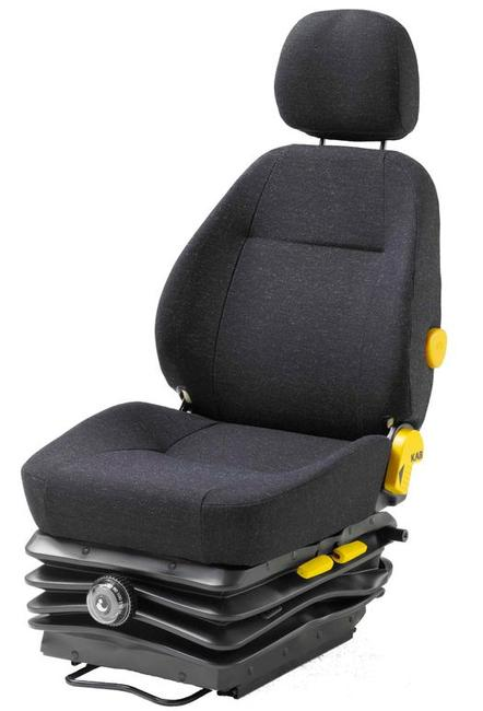 The KAB 525 is a mechanical suspension seat that is currently standard fitment in Caterpillar mining vehicles. Like the KAB 565, in the construction industry the KAB 525's mid-back makes it popular for use in graders, loaders and dozers where there is a requirement to regularly look rearward.