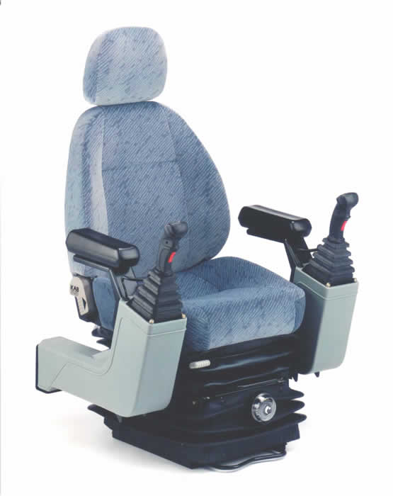 The KAB 525P is a Mechanical pod control seat designed to carry hydraulic or electronic joysticks. Rated for a driver weight of 50kg to 120kg, it is typically used in excavators and backhoes. Its features include...