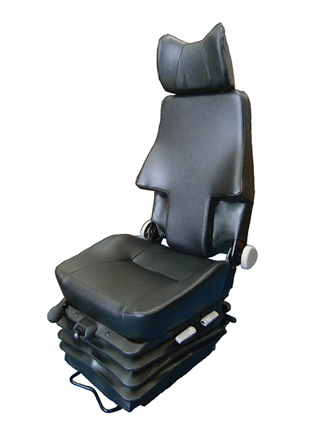 The KAB 564-CM seat sets the standard for high quality underground mine seating. Its unique custaway backrest is designed to accomodate belt mounted rescue packs without sacrificing ergonomics or safety. Uniquely, it incorporates backrest recline functionality and is able to accomodate a 3 point belt or harness belt.