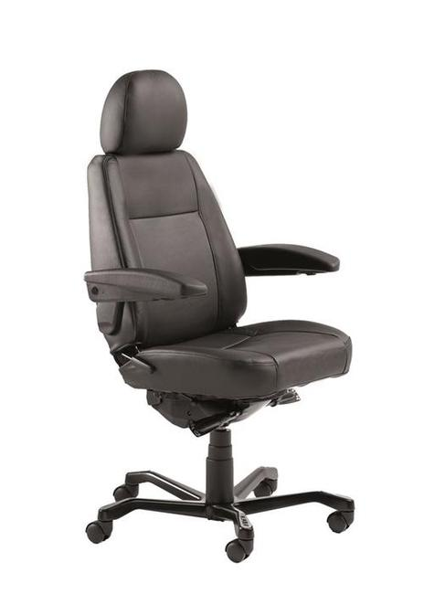 The KAB Manager is an ergonomic chair recommended for people of smaller stature. Its primary point of difference from the other KAB office chairs is that it features narrow contoured cushions, a shorter seat